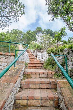 Parco Astarita on the island Capri, Italy Standard-Bild - 146874563
