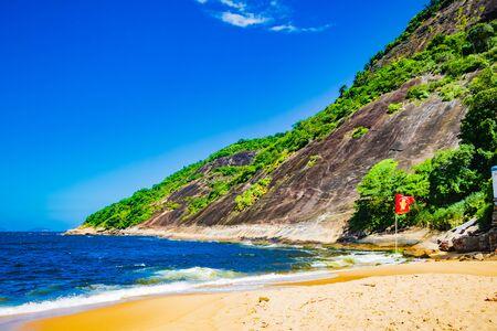 Vermelha Beach in summer, Rio de Janeiro, Brazil Standard-Bild - 146874687