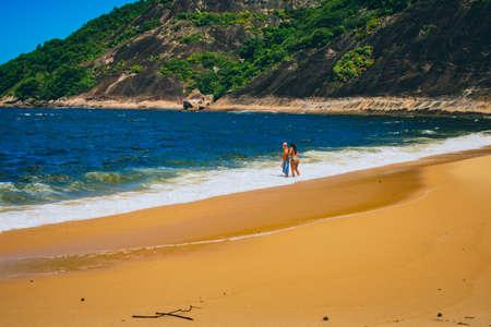 Vermelha Beach in summer, Rio de Janeiro, Brazil Standard-Bild - 146815771