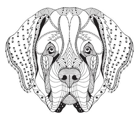 Panda Estilizada, Vector, Ilustración, Lápiz A Mano Alzada. Libro De ...