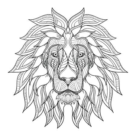 Stilisierte Wolf Kopf Auf Weißem Hintergrund Isoliert. Bild Für ...