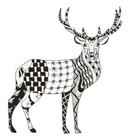 f966015fe88f6 Gruß Schöne Karte Mit Rotwild. Logo Von Tier Gemacht In Vektor. Deer ...
