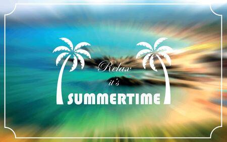 Summertime postcard. Vector illustration.