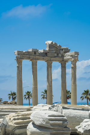 view of ruins the ancient greek tample of Apollon in Side