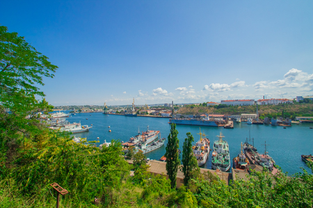 lading: Sevastopol view from the waterfront south of the bay