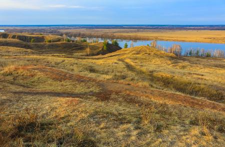 esenin: Autumn view of the Oka River valley near Konstantinovo Stock Photo