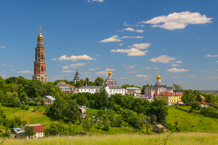 theologian: St John the Theologian Monastery in Poschupovo Rybnovskij region Ryazan region. Stock Photo