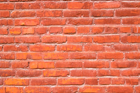 Old wall of red silicate brick background.