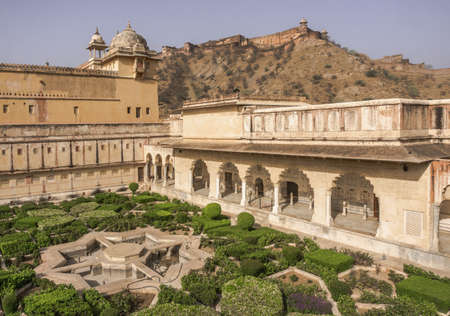 Amber fortified residence of Rajah Man Singh I in the northern suburb of the same name Jaipur