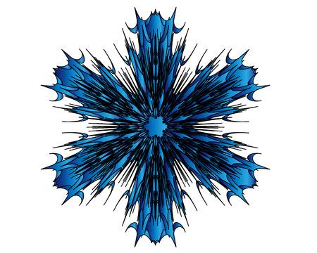 blue shapes Vector