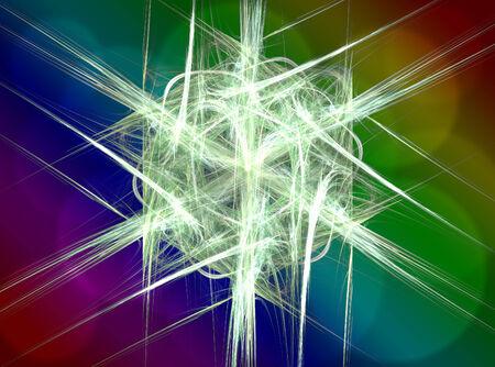 Neon shape symbols generated seamless texture photo