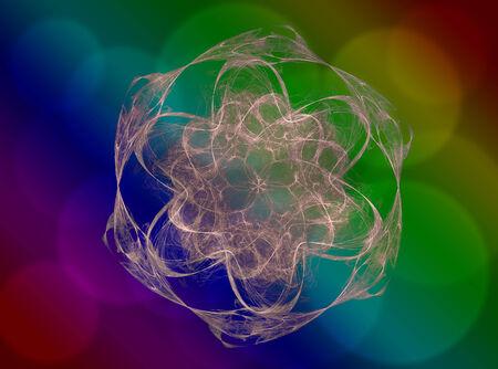 Neon shape symbols generated space vortex series photo