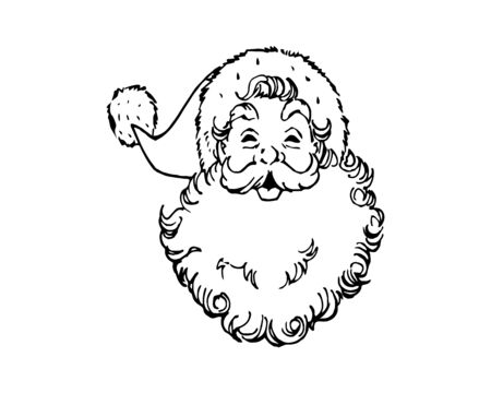 Design Vector Santa Claus Face