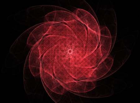 dynamic background: fractal radial pattern on the subject of science, technology and design