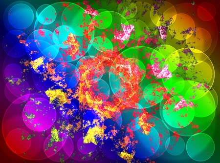 wreckage: Abstract fractal wreckage, digital artwork