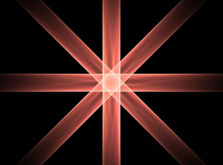 rood: star in cross Stock Photo