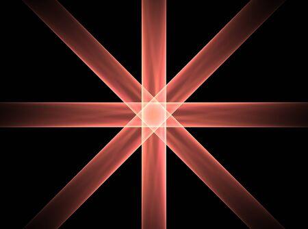 star in cross Stock Photo