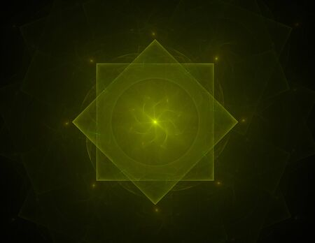 tress: Fractal pattern in stained glass style. Computer generated graphics.