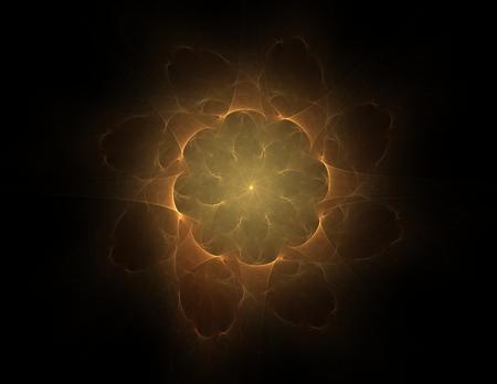 Illustartion of Gold glittering star dust circle Archivio Fotografico