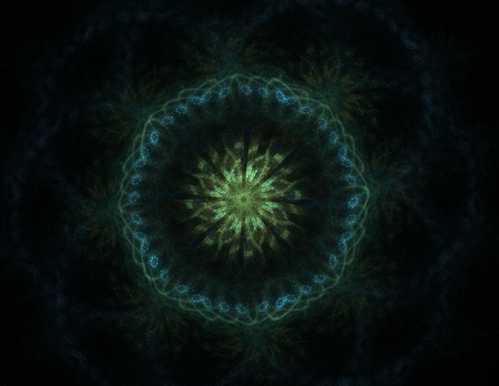 pipe dream: fractal radial pattern on the subject of science, technology and design