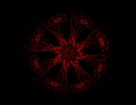 Colorful fractal shine, digital artwork photo
