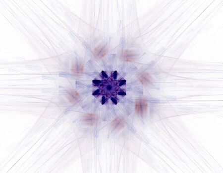 Interplay of abstract fractal forms photo