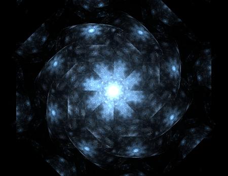 sci fi: Sci fi futuristic user interface. Abstract illustration. Stock Photo
