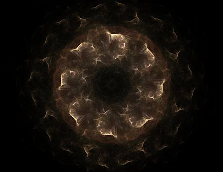 mystique: fractal radial pattern