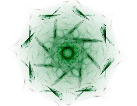 Interplay of abstract fractal forms on the subject of nuclear photo