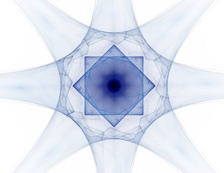 microcosm: Interplay of abstract fractal forms on the subject of nuclear Stock Photo