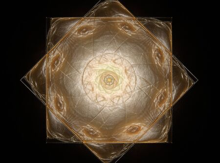 shine: Colorful fractal shine, digital artwork Stock Photo