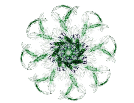pipe dream: fractal radial pattern