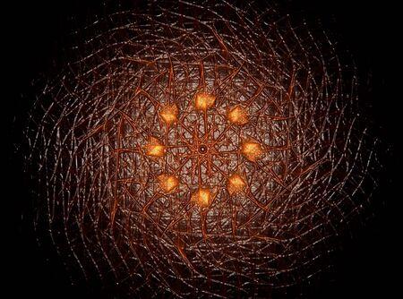 Colorful fractal shine, digital artwork Archivio Fotografico