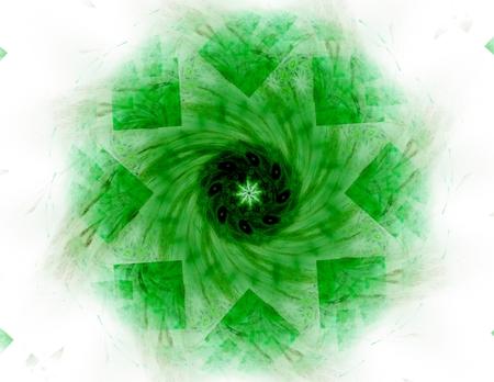 green powder: Abstract design of green powder cloud
