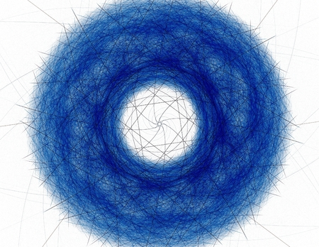 envision: fractal radial pattern on the subject of science, technology and design