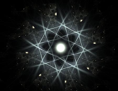 フラクタル放射状パターン