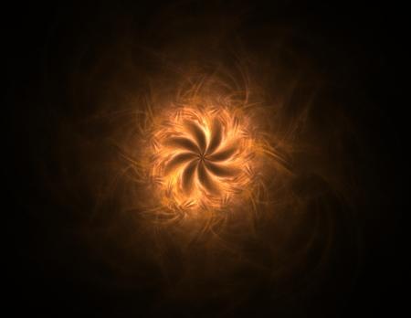 Illustartion of Gold glittering star dust circle Stock fotó