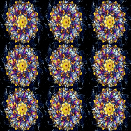 pansy: seamless modern kaleidoscope pattern with pink pansy flowers