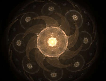ornamental background: Artistic, ornamental background line graphics