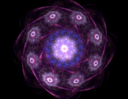 fondo de circo: Anillos colorido fractal, ilustraciones digitales