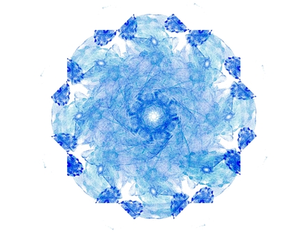 Centrepiece: fractal radial pattern on the subject of science, technology and design