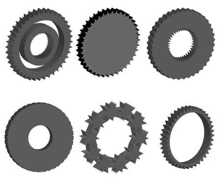 dag: Set of gear wheels Illustration