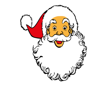 santaclaus: Illustration of Santa Claus isolated on white background