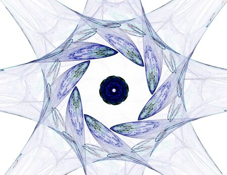 Abstract fractal patterns and shapes. Banco de Imagens