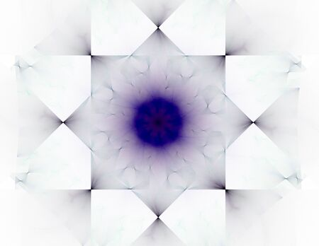 oscillation: Elementary Particles series. Interplay of abstract fractal forms on the subject of nuclear physics science and graphic design. Stock Photo