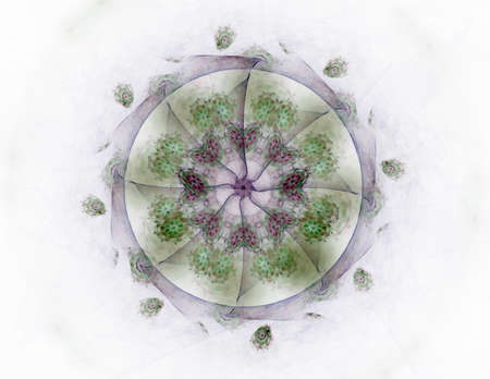 Interplay of abstract fractal form