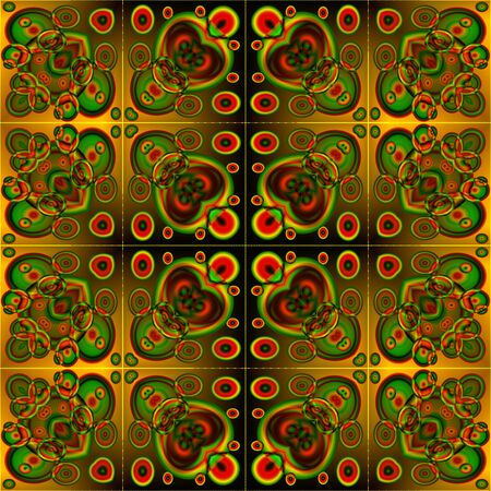 centralized: Abstract decorative round fractal colored mandala