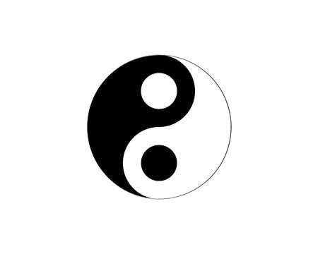 armonia: Ying yang símbolo de la armonía y el equilibrio
