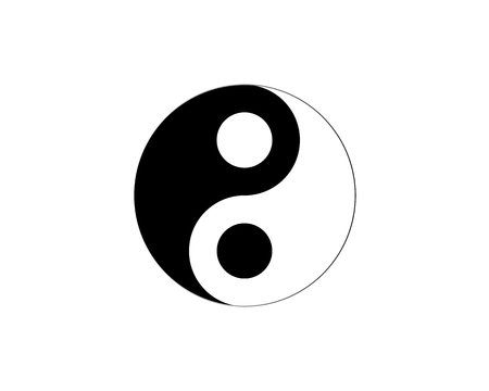 and harmony: Ying yang symbol of harmony and balance