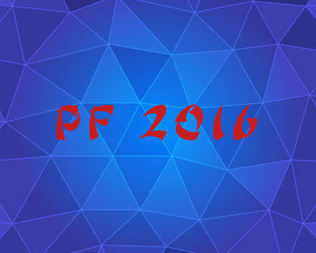 pour feliciter: PF (Pour Feliciter, Happy news year) 2016 on the triangle paper pattern